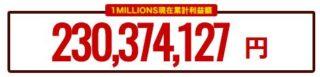 ワンミリオンズの累計利益額