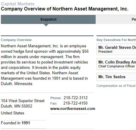 Northern Asset Management社の概要