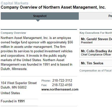 Northern Asset Management社の概要