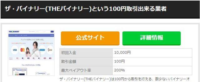 100円バイナリー