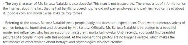 Bartosz Nafalskiの情報