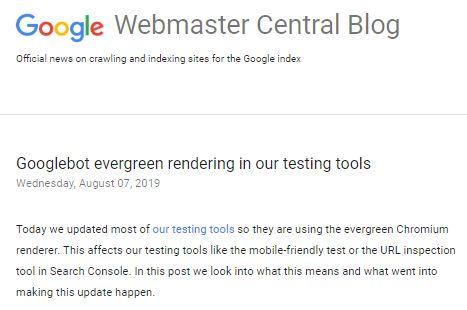 Googleのウェブマスター向け公式ブログ