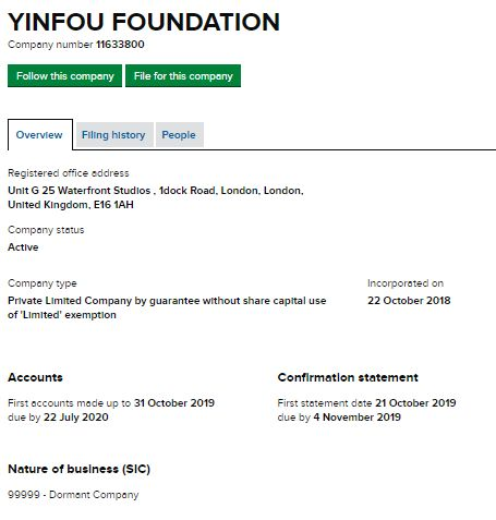 YINFOU Foundation Ltd.の検索結果