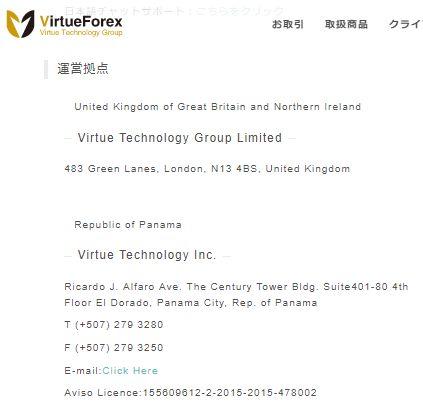 Virtueforexの企業情報