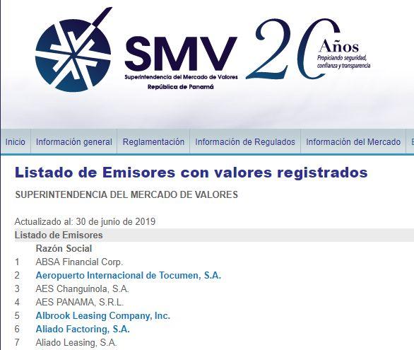SMV内の一覧