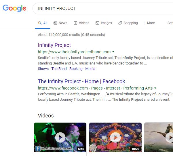 「INFINITY PROJECT」の検索結果