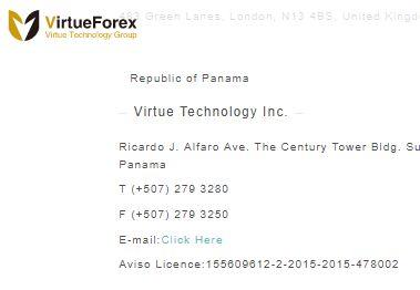 Virtueforexのライセンス