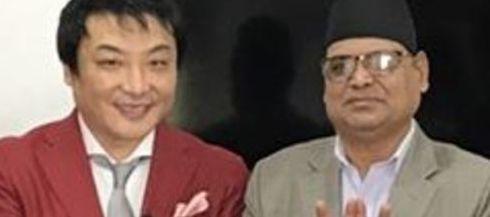 ネパール外務大臣とのツーショット